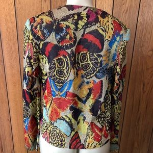 Missoni sz 42 Abstract w/Metallic Thread Jacket